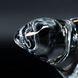 Hadeland Glassverk crystal polar bear sculpture. Signed to base at Jeroen Markies.