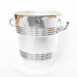 Silver plated champagne bowl of recent manufacture with raised detail to side. Stamped to base at Jeroen Markies.