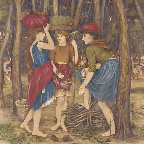 John Roddam Spencer Stanhope The Pine Woods at Viareggio