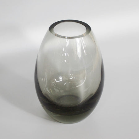 Smoked Pin Blown Vase
