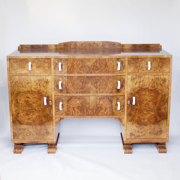 Art Deco Sideboard English, Circa 1930
