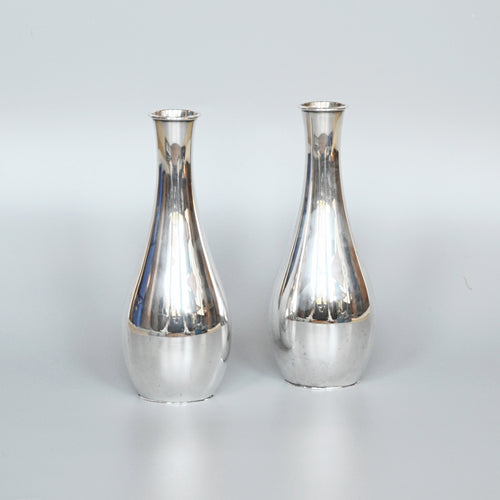 Pair of Silver Specimen Vases