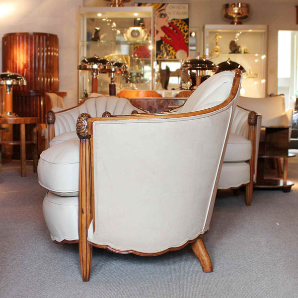 Art Deco Sue et Mare three piece settee and armchairs at Jeroen Markies