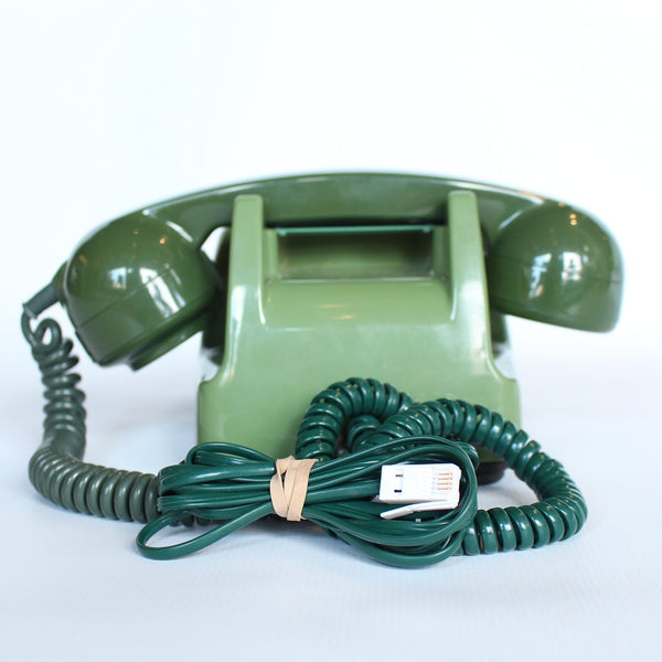 Two-tone green original GPO model 706 telephone at Jeroen Markies