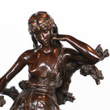 Art Nouveau bronze sSculpture Captive by Hippolyte Francois Moreau at Jeroen Markies