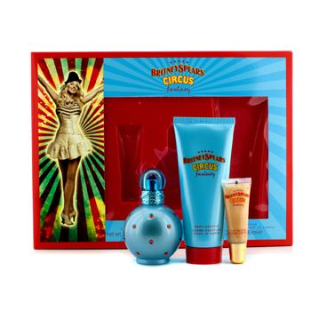 Britney Spears Circus Fantasy  Gift Set -Eau De Toilette Spray 50ml +Body Souffle 100ml+ Lip Gloss 8ml - My Gift Box