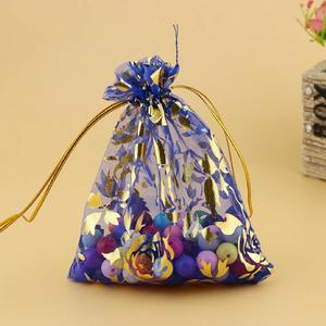 Sapphire Organza Jewelry Pouch Bags 9X12cm - My Gift Box