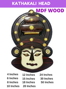 KATHAKALI HEAD - MDF WOOD - My Gift Box