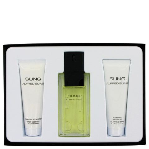 Alfred Sung Gift Set - Eau De Toilette Spray 100ml+ Shower Gel 75ml + Body Lotion 75ml - My Gift Box