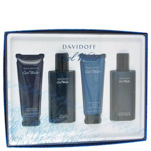 Davidoff Cool Water Gift Set -Eau De Spray + After Shave Balm + Shower Gel + After Shave Splash - My Gift Box