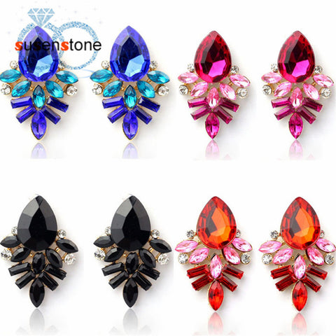 Rhinestone Crystal Free Alloy Ear Studs Ear Rings - My Gift Box