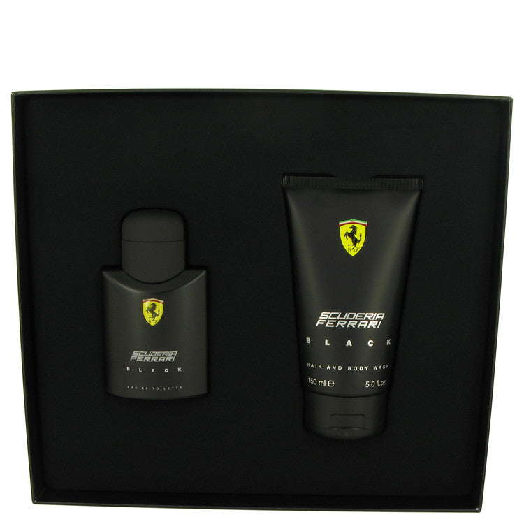 Ferrari Scuderia Black Gift Set - Eau De Toilette Spray 75 ml + Hair & Body Wash 150ml - My Gift Box