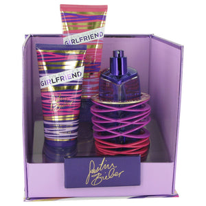 Justin Bieber Girlfriend Gift Set -Eau De Toilette Spray 100ml + Body Lotion 100ml + Shower Gel - My Gift Box