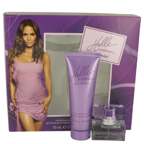 Halle Berry Pure Orchid  Gift Set -Eau De Toilette Spray 15ml + Shower Gel 75ml - My Gift Box