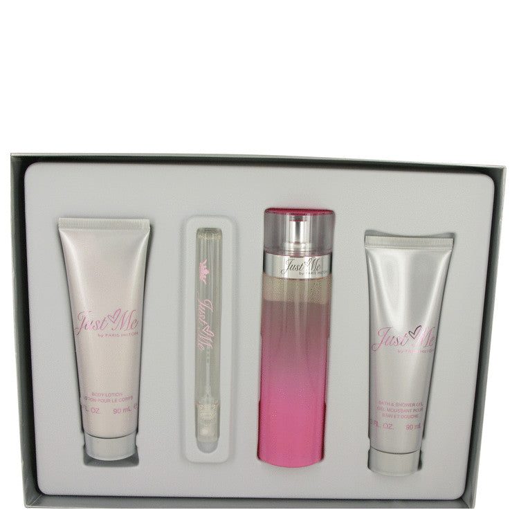 Paris Hilton Gift Set - 100ml Parfum Spray + 90ml Body Lotion + 90ml Shower Gel + 10ml Mini EDP Spray - My Gift Box