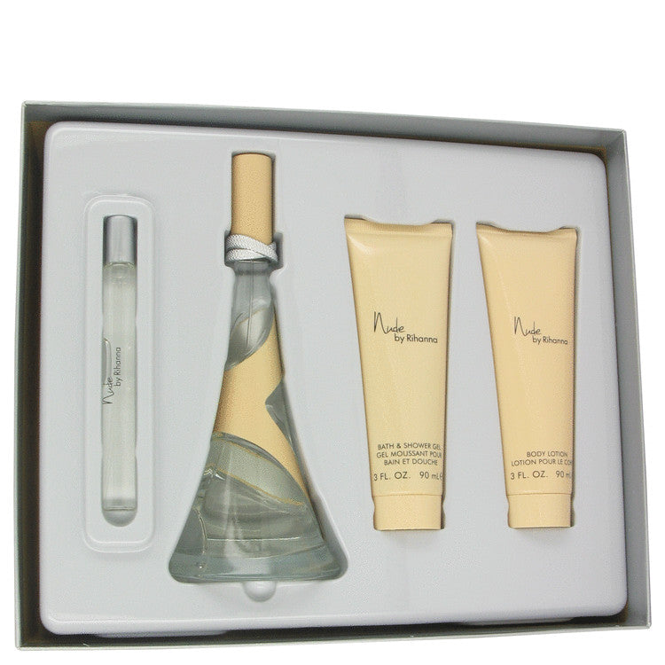 Rihanna Nude Perfume Gift Set - Eau De Parfum Spray +Body Lotion + Shower Gel +Mini EDP - My Gift Box