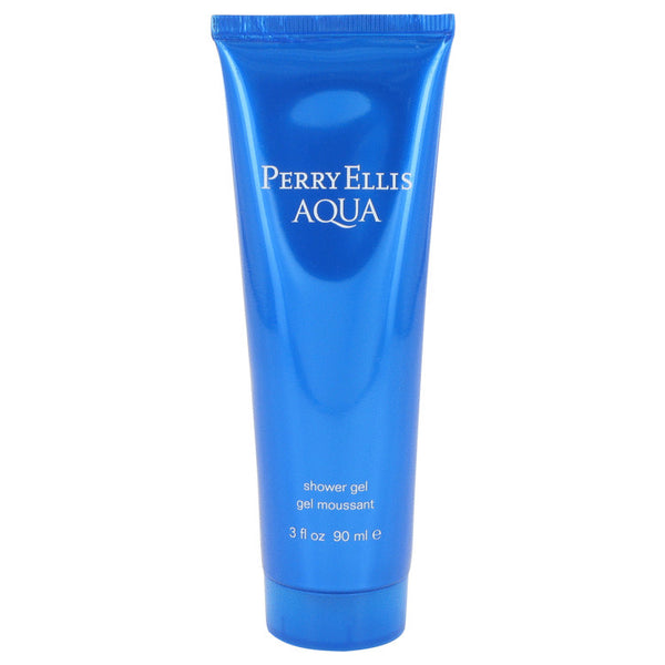 Perry Ellis Aqua Gift Set - Eau De Toilette Spray + Deodorant Stick + After Shave Gel +Shower Gel - My Gift Box