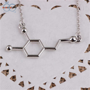Dopamine Biochemistry Molecule DNA Necklace - My Gift Box