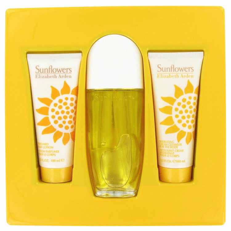Elizabeth Arden Sunflowers Gift Set -Eau De Parfum Spray +Body Lotion + Hydrating Cleanser - My Gift Box