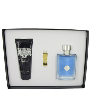 Versace Pour Homme Gift Set -Eau De Toilette Spray 100 ml + Shampoo 100 ml+ Gold Versace Money Clip - My Gift Box