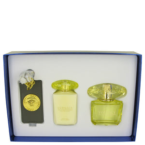 Versace Yellow Diamond Intense Gift Set - Parfum Spray 90ml +Body Lotion 100ml + Versace Bag Tag - My Gift Box