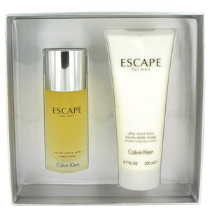 Calvin Klein Escape Gift Set  Eau De Toilette Spray 100 ml + After Shave Balm 200 ml - My Gift Box