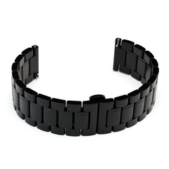 Black Brushed Link Bracelet