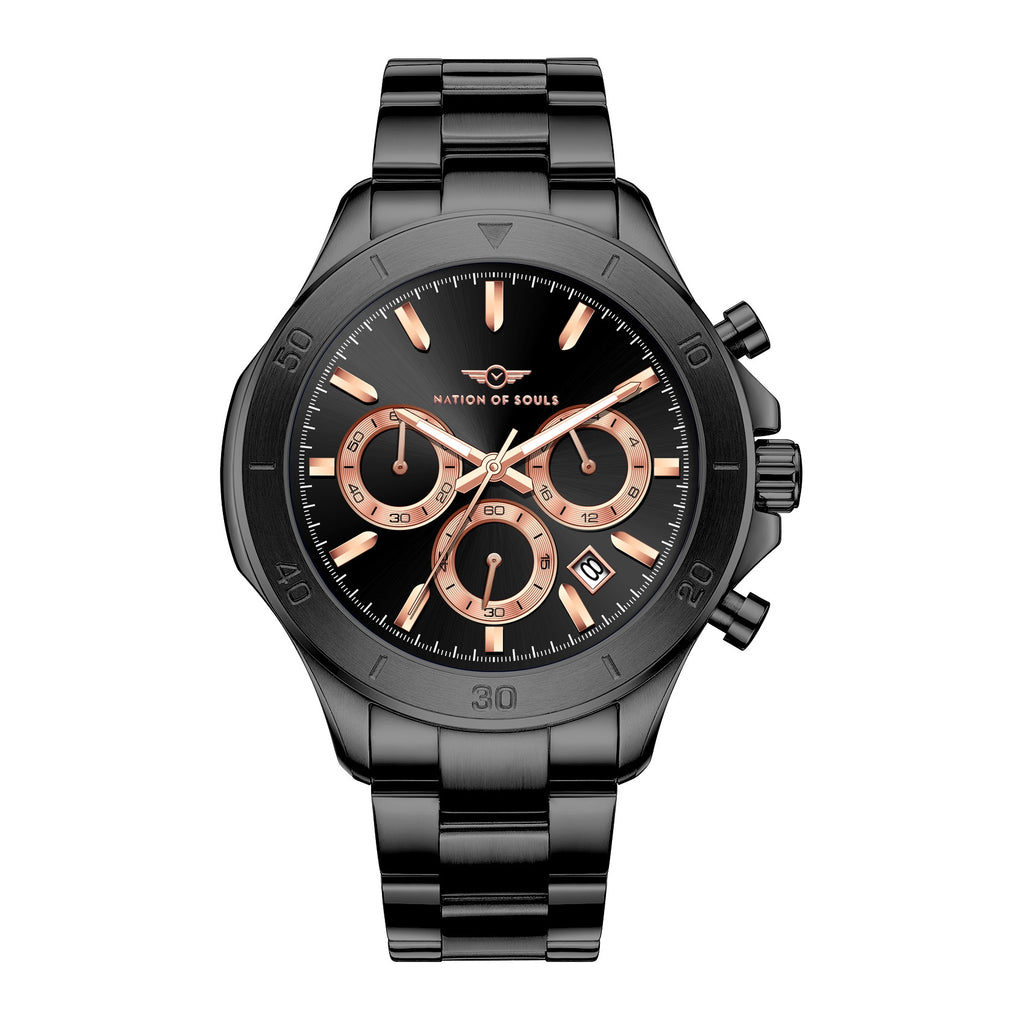 Chronograph One | Black - Rose Gold