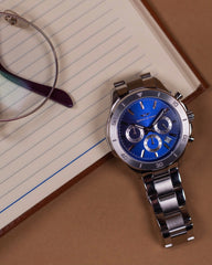 Chronograph One | Silver - Lapis Blue