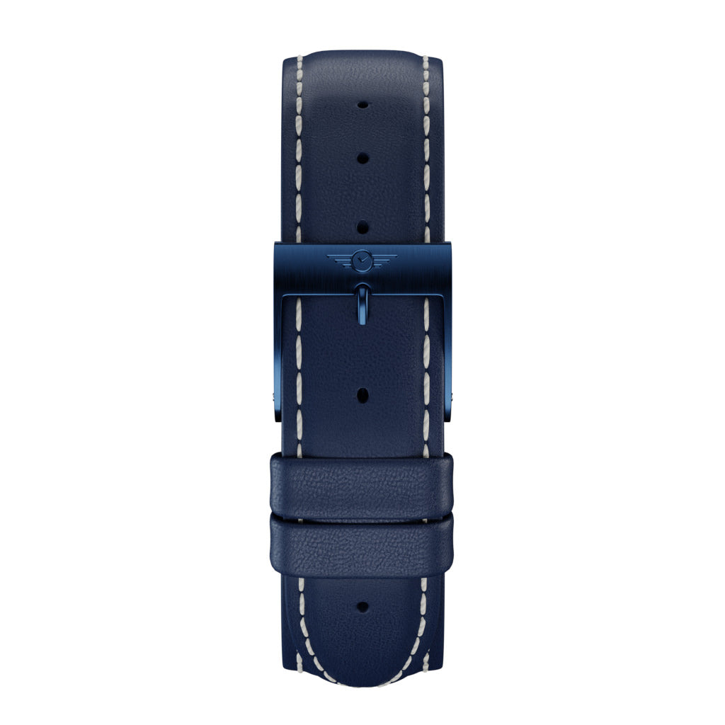 Indigo Leather - Indigo Brushed Strap