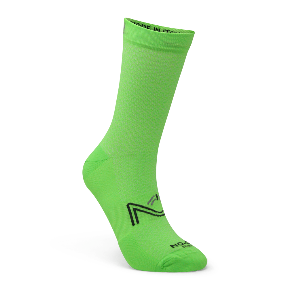 Green Fluo Color Performance Sport Socks, made in Italy.