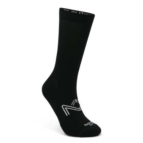 Black Color Performance Sport Socks, made in Italy.