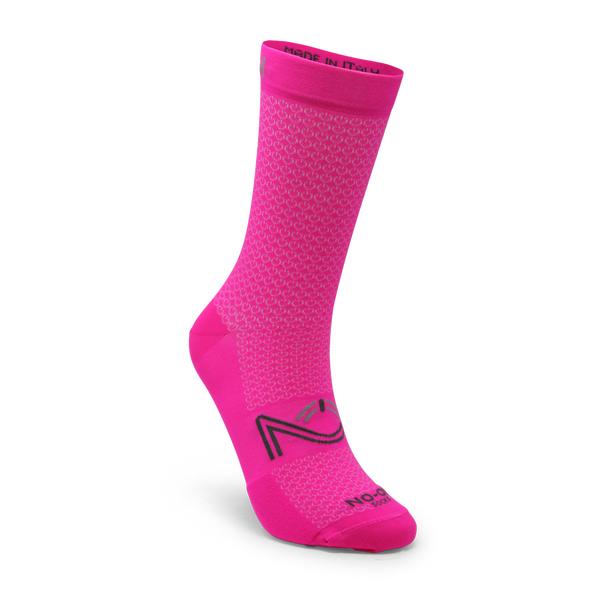 Pink Fluo Color Performance Sport Socks, made in Italy.