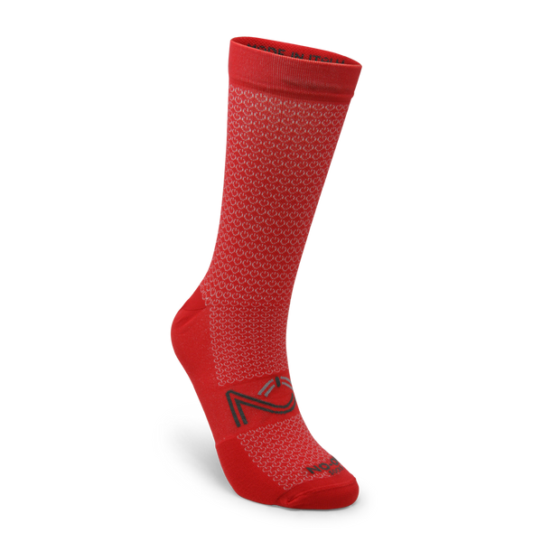 Red Color Performance Sport Socks, made in Italy.