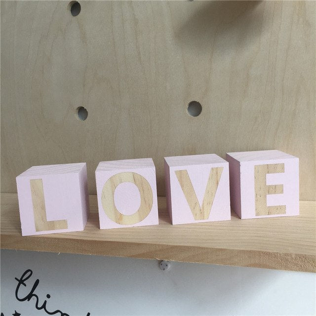 Childrens Toys Wooden Letters Building Blocks