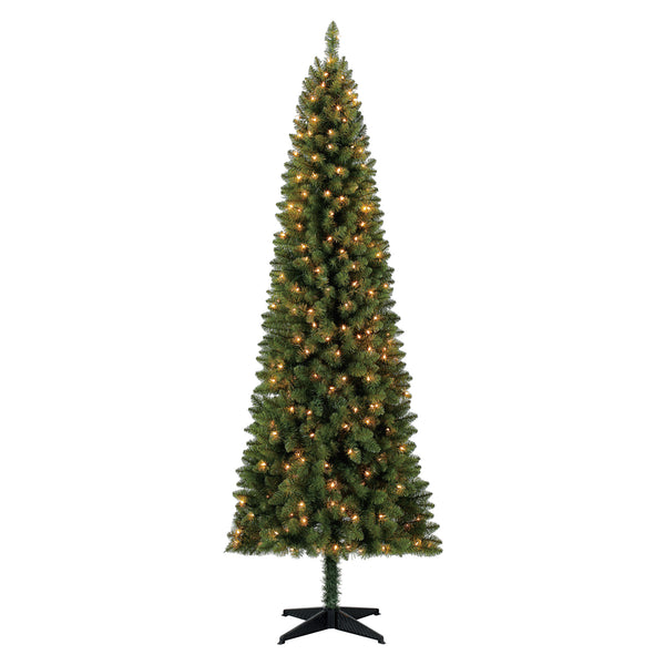 Holiday Time Pre-Lit 7\' Brinkley Pine Artificial Christmas Tree,  Clear-Lights