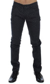 Dolce & Gabbana Gray Cotton Stretch 14 Slim Fit Pants Jeans - Versus Club Men's Clothing