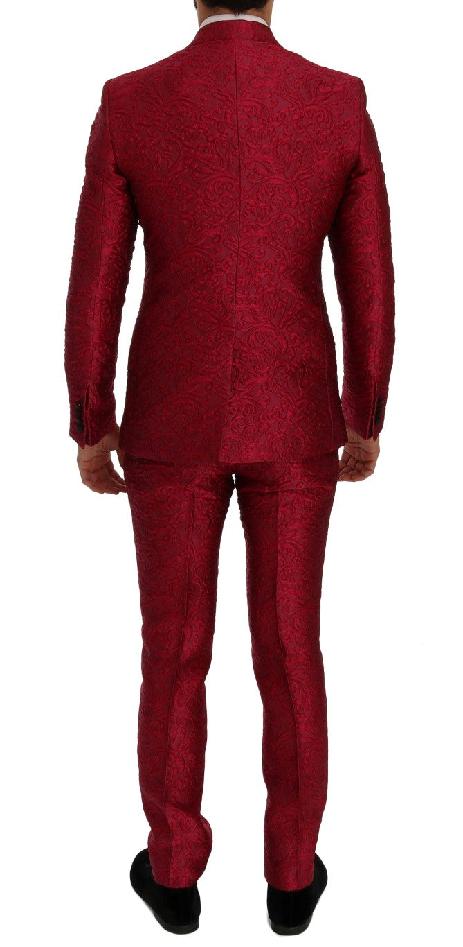 Dolce & Gabbana Pink Jacquard 3 Piece Slim fit Suit - Versus Club Men's Clothing