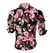 Floral Print Button Up Men Shirt