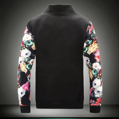 Floral Bomber Top - Black