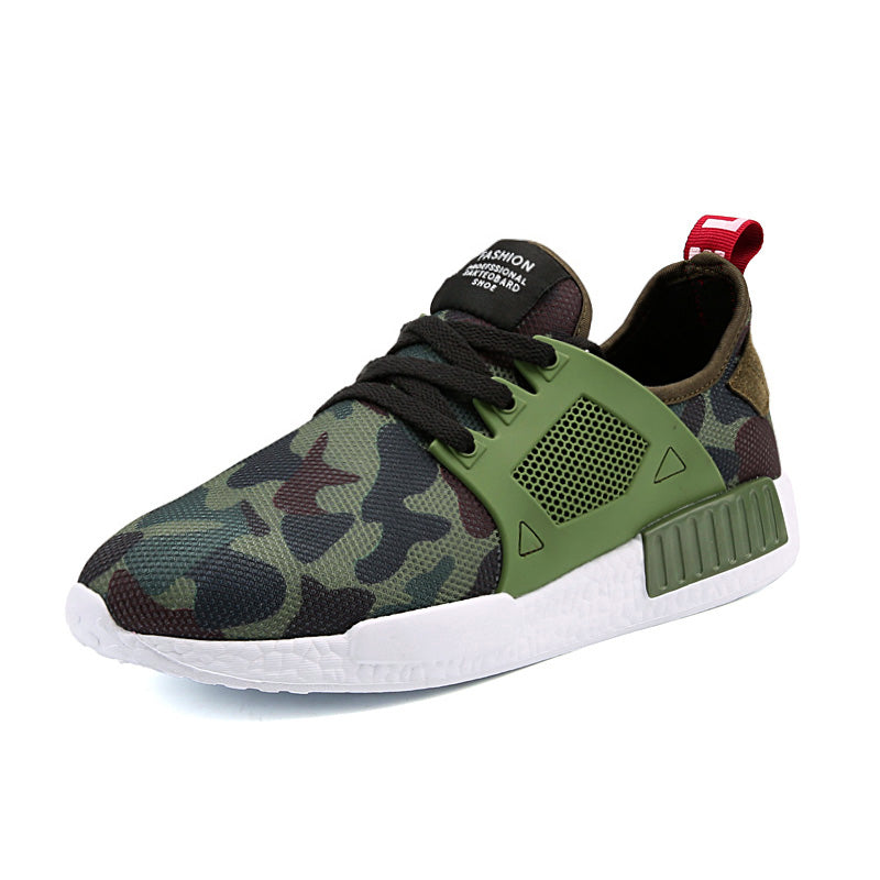 Aaron Max Camouflage Trainers - Army Green - Versus Club Men's Clothing