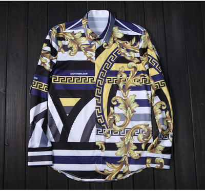Royal Golden Stripe Shirt