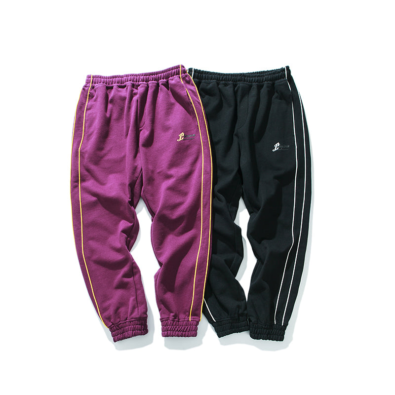 Purple Men's Side Three Stripes Pants