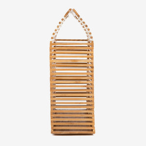 Bamboo Bag for Women Handmade Shoulder Caged Bag