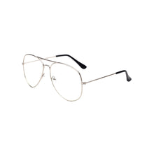 Load image into Gallery viewer, Clear Lens Aviator Glasses In Silver | ACCESSORYO