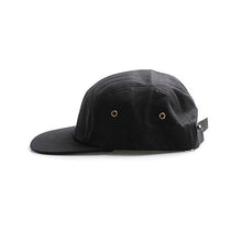 Load image into Gallery viewer, 5 panel cotton baseball cap mens plain black metal eyelets uv protection festival daily fashion amazon