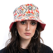 Load image into Gallery viewer, Flamingo Print Bucket Hat with Pink Lining