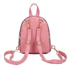 silver pink glitter backpack small cute girl lady sparkle pretty small amazon gold pretty shiny
