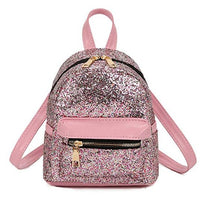 Load image into Gallery viewer, silver pink glitter backpack small cute girl lady sparkle pretty small amazon gold pretty shiny