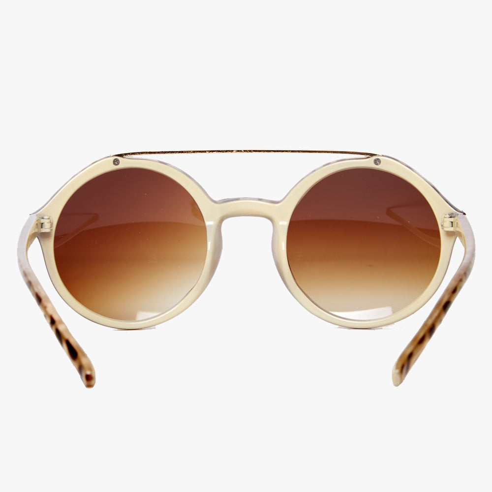 c57856c4faf ... Beige Tortoiseshell Retro Sunglasses with Brown Lens - Accessory O ...
